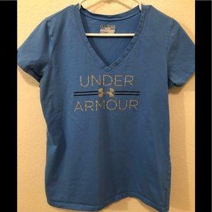 Blue UA semi fitted tee